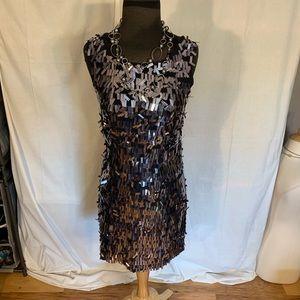 Tory Burch silk spangled sheath dress. 2